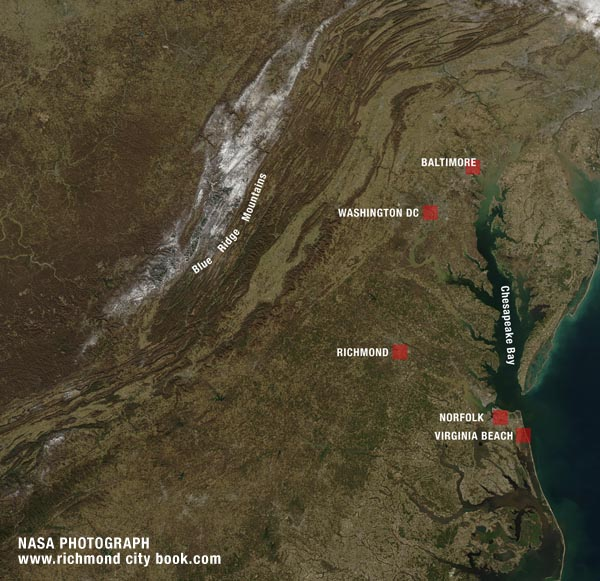 Nasa Satellite Photo Richmond Virginia