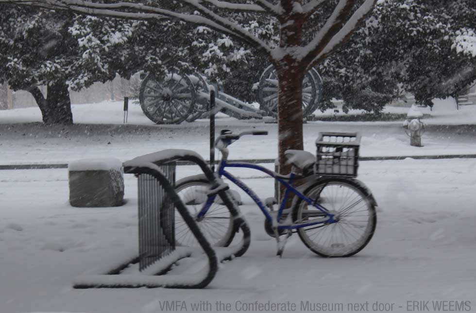 Enlarged - Cannon and Bike in the snow - VMFA Museum