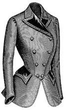 1901 Ladies Jacket Louis XVI